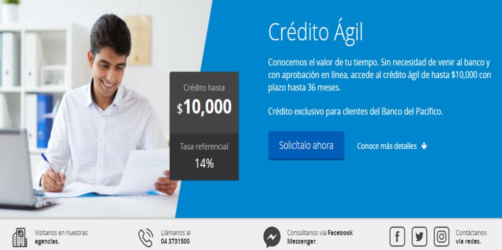 Crédito Ágil del Banco del Pacifico – En Línea